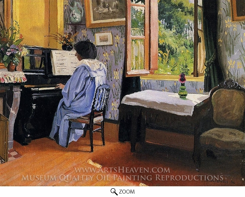 Felix Vallotton, Lady at the Piano oil painting reproduction