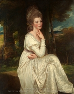 Lady Elizabeth Stanley, Countess of Derby painting reproduction, George Romney