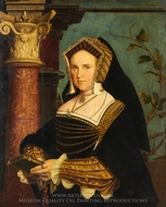 Lady Guildford (Mary Wotton, born 1500) painting reproduction, Hans Holbein, The Younger