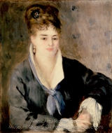 Lady in a Black Dress painting reproduction, Pierre-Auguste Renoir