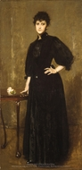 Lady in Black painting reproduction, William Merritt Chase