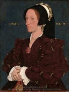 Lady Lee (Margaret Wyatt) painting reproduction, Hans Holbein, The Younger