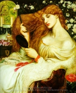 Lady Lilith painting reproduction, Dante Gabriel Rossetti