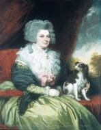 Lady with a Dog painting reproduction, Mather Brown