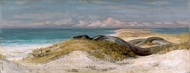 Lair of the Sea Serpent painting reproduction, Elihu Vedder