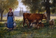 Laitiere (Milkmaid) painting reproduction, Julien Dupre
