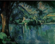 Lake Annecy painting reproduction, Paul C�zanne