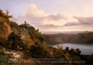 Lake Nemi painting reproduction, Jean-Charles Joseph Remond