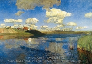 Lake Russia painting reproduction, Isaak Levitan