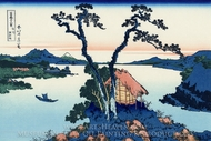 Lake Suwa in the Shinano Province painting reproduction, Katsushika Hokusai