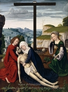 Lamentation painting reproduction, Gerard David