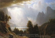 Landscape painting reproduction, Albert Bierstadt