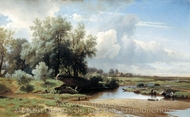 Landscape painting reproduction, Lev Kamenev