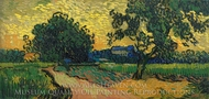 Landscape at Twilight painting reproduction, Vincent Van Gogh