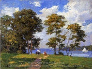 Landscape by the Shore painting reproduction, Edward Potthast