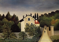 Landscape on the Banks of the Oise, Area of Chaponval painting reproduction, Henri Rousseau
