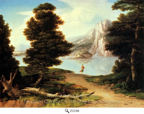 Washington Allston, Landscape with a Lake oil painting reproduction