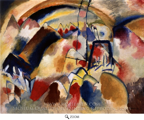 Wassily Kandinsky, Landscape with Church oil painting reproduction