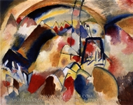 Landscape with Church painting reproduction, Wassily Kandinsky
