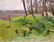 Landscape with Goatherd painting reproduction, John Singer Sargent
