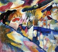 Landscape with Rain painting reproduction, Wassily Kandinsky