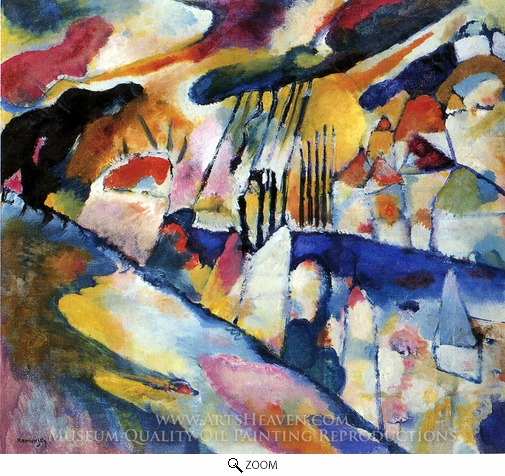 Wassily Kandinsky, Landscape with Rain oil painting reproduction