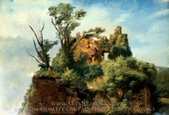 Landscape with Ruins painting reproduction, Pierre Henri De Valenciennes