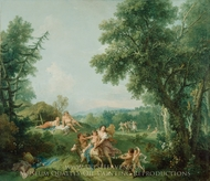 Landscape with the Education of Bacchus painting reproduction, Francesco Zuccarelli
