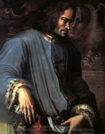 Laurent le Magnifique painting reproduction, Giorgio Vasari