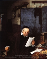 Lawyer in his Study painting reproduction, Adriaen Van Ostade