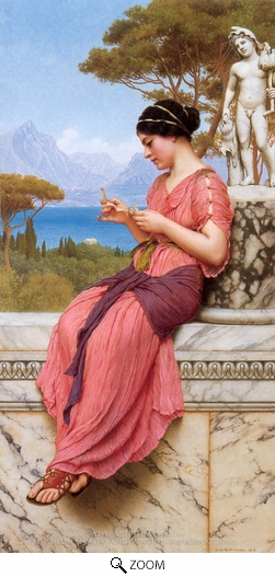 John William Godward, Le Billet Doux oil painting reproduction