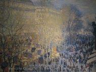 Le Boulevard des Capucines painting reproduction, Claude Monet
