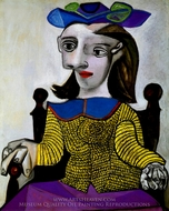 Le Chandail Jaune (Dora) painting reproduction, Pablo Picasso (inspired by)