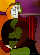 Le Fauteuil Rouge painting reproduction, Pablo Picasso (inspired by)