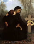 Le Jour des Morts (All Saints' Day) painting reproduction, William A. Bouguereau