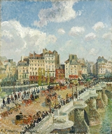 Le Pont-Neuf painting reproduction, Camille Pissarro