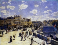 Le Pont-Neuf, Paris painting reproduction, Pierre-Auguste Renoir