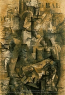 Le Portugais (The Emigrant) painting reproduction, Georges Braque