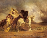Le Simoon painting reproduction, Eugene Fromentin