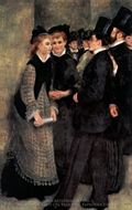 Leaving the Conservatoire painting reproduction, Pierre-Auguste Renoir
