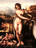 Leda and the Swan painting reproduction, Cesare Da Sesto