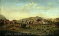 Leete Farm, West Claremont, New Hampshire painting reproduction, Francis Alexander
