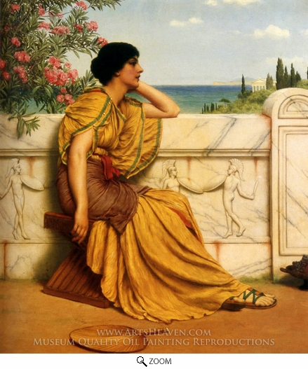 John William Godward, Leisure Hours oil painting reproduction