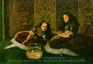 Leisure Hours painting reproduction, John Everett Millais