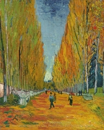 Les Alyscamps painting reproduction, Vincent Van Gogh