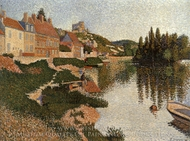 Les Andelys, the Embankment painting reproduction, Paul Signac