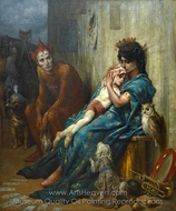 Les Saltimbanques painting reproduction, Gustave Dore