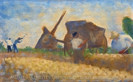 Les Terrassiers painting reproduction, Georges Seurat