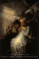 Les Vieilles or Time and the Women painting reproduction, Francisco De Goya