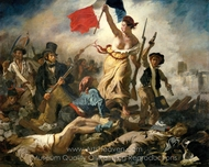 Liberty Leading the People painting reproduction, Eugene Delacroix